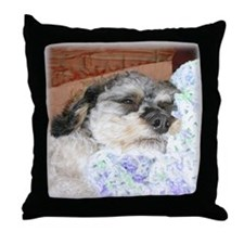 Cuddly Yorki-Poo Mix Throw Pillow