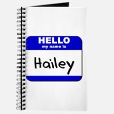 hello my name is hailey Journal
