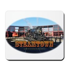 steamtownovalBlack.png Mousepad