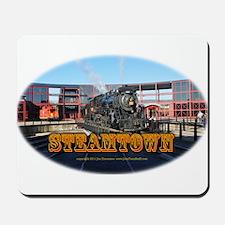 steamtownovalBlack.png Mousepad