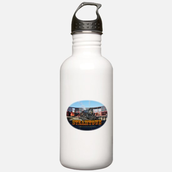 steamtownovalBlack.png Water Bottle