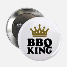 "BBQ King crown 2.25"" Button (10 pack)"