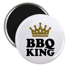"BBQ King crown 2.25"" Magnet (10 pack)"