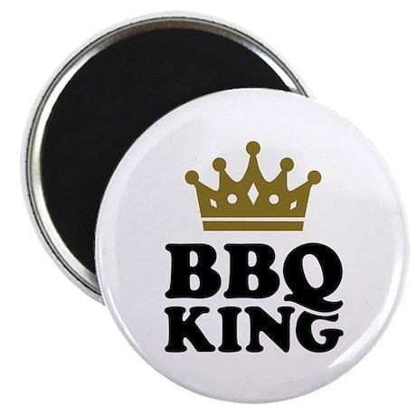 "BBQ King crown 2.25"" Magnet (100 pack)"