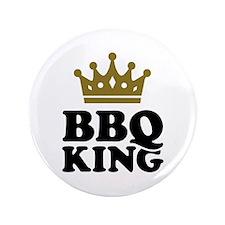 "BBQ King crown 3.5"" Button"