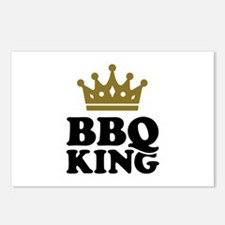 BBQ King crown Postcards (Package of 8)