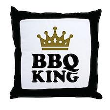 BBQ King crown Throw Pillow