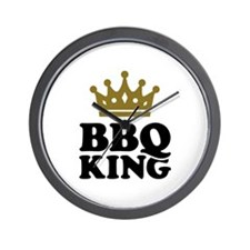 BBQ King crown Wall Clock