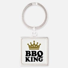 BBQ King crown Square Keychain