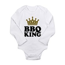 BBQ King crown Long Sleeve Infant Bodysuit