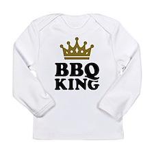 BBQ King crown Long Sleeve Infant T-Shirt