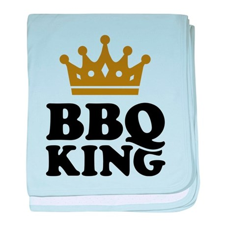 BBQ King crown baby blanket