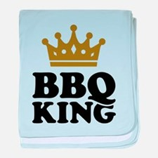 BBQ King crown baby blanket
