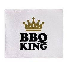 BBQ King crown Throw Blanket