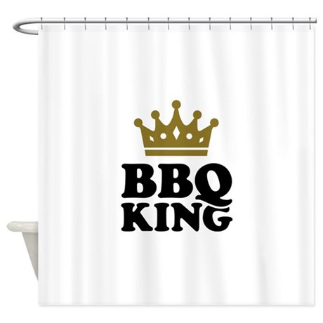 BBQ King crown Shower Curtain