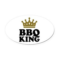 BBQ King crown Oval Car Magnet