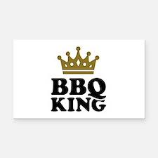 BBQ King crown Rectangle Car Magnet