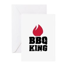 BBQ King fire Greeting Cards (Pk of 10)
