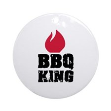 BBQ King fire Ornament (Round)