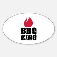 BBQ King fire Decal