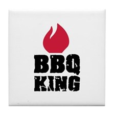 BBQ King fire Tile Coaster