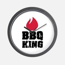 BBQ King fire Wall Clock