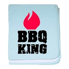 BBQ King fire baby blanket