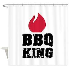 BBQ King fire Shower Curtain