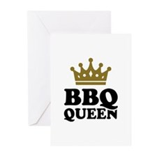 BBQ Queen crown Greeting Cards (Pk of 10)