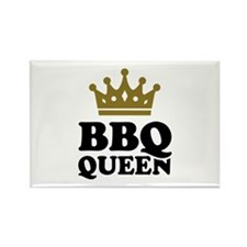 BBQ Queen crown Rectangle Magnet
