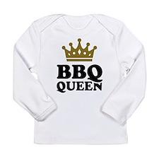 BBQ Queen crown Long Sleeve Infant T-Shirt