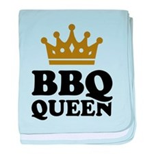 BBQ Queen crown baby blanket