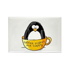 Coffee penguin Magnets
