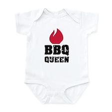 BBQ Queen fire Infant Bodysuit