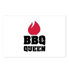 BBQ Queen fire Postcards (Package of 8)