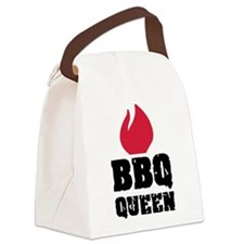 BBQ Queen fire Canvas Lunch Bag