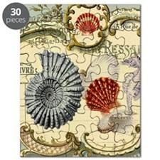 vintage colorful seashells nautical beach Puzzle