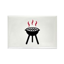 Grill BBQ Rectangle Magnet
