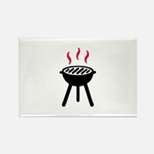 Grill BBQ Rectangle Magnet (100 pack)