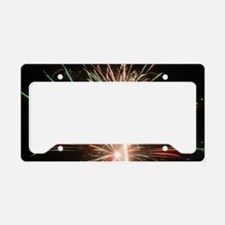 Fireworks License Plate Holder