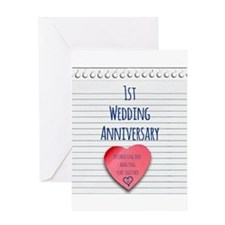 1st Wedding Anniversary Greeting Cards