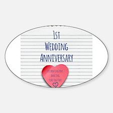 1st Wedding Anniversary Decal