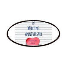 1st Wedding Anniversary Patches