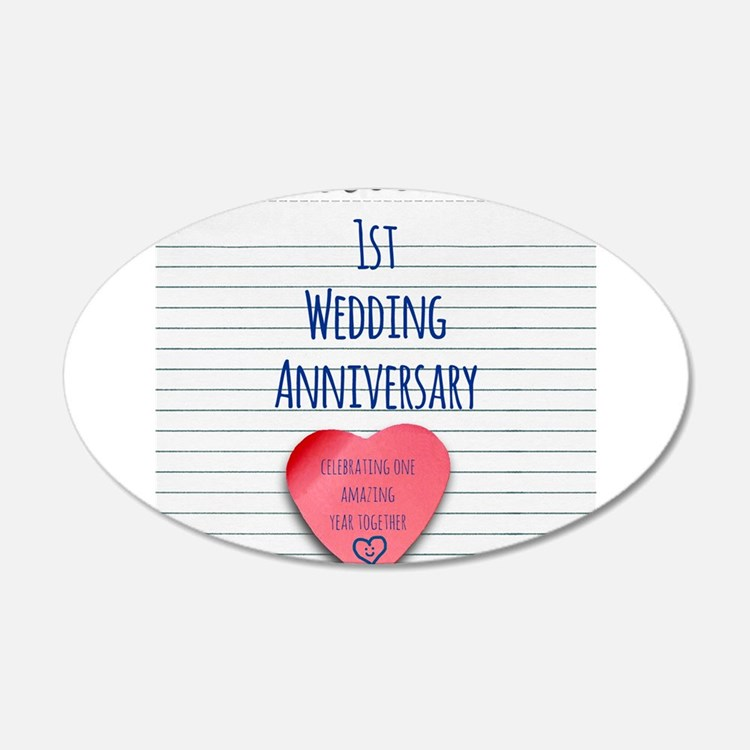 1st Wedding Anniversary Wall Decal