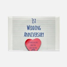 1st Wedding Anniversary Magnets