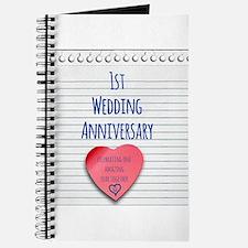 1st Wedding Anniversary Journal