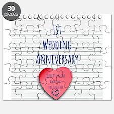 1st Wedding Anniversary Puzzle