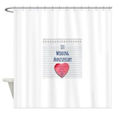 1st Wedding Anniversary Shower Curtain