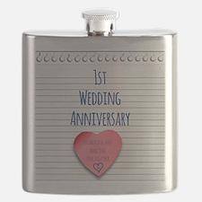 1st Wedding Anniversary Flask