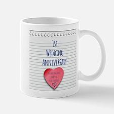 1st Wedding Anniversary Mugs